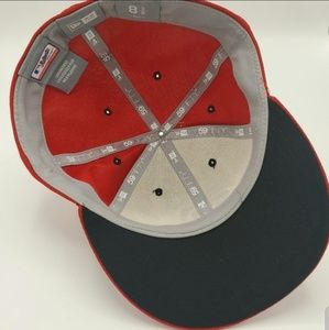 New Era Accessories - NEW ERA RED/WHITE MEN CAP